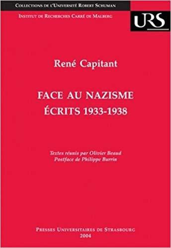 Face au nazisme, écrits, 1933-1938