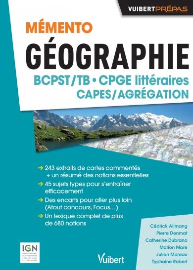 Mémento géographie BCPST CPGE littéraires CAPES/Agrégation