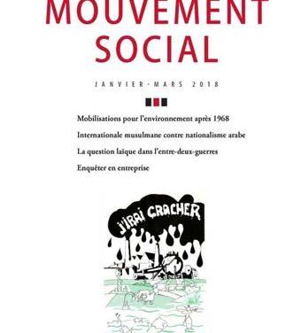 Le mouvement social, n°262