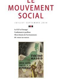 couverture Le mouvement social, n°264 juillet-septembre, 2018
