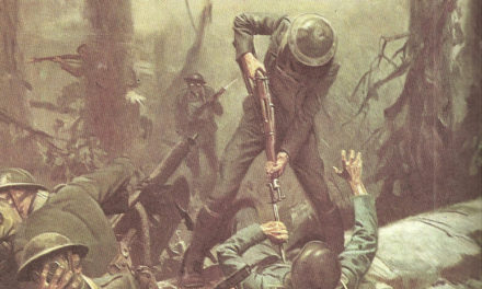 Image illustrant l'article ww1-june-1918-u-s-marines-in-action-at-the-battle-of-belleau-wood-painting-by-tom-lovell de La Cliothèque