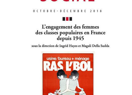 L'engagement des femmes des classes populaires en France depuis 1945