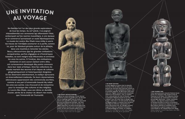 Voyages au Louvre Abu Dhabi page intérieure du livre une invitation au voyage