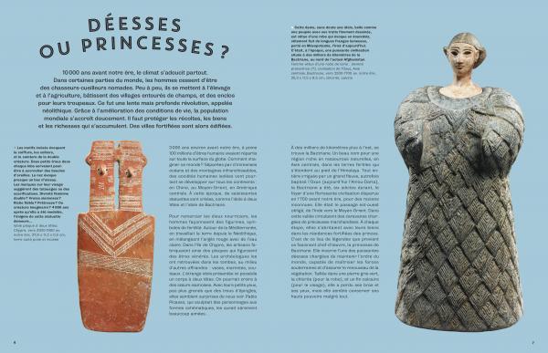 Voyages au Louvre Abu Dhabi page intérieure du livre déesses ou princesses ?