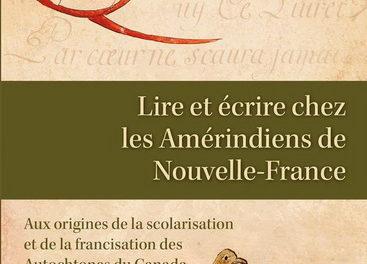 couverture Lire et écrire chez les Amérindiens de la Nouvelle-France