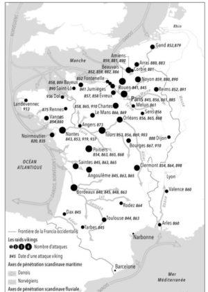 Le royaume de France ravagé par les bandes vikings