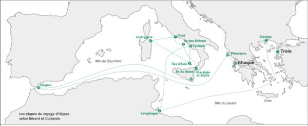 La mer Méditerranée d'Ulysse