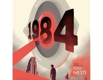 couverture George Orwell, 1984, Adapté et illustré par Fido Nesti, Grasset, 2020,223 pages, 22 euros.