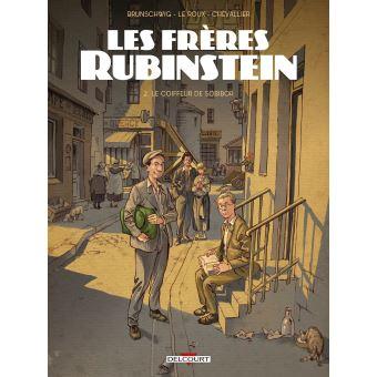 couverture Les frères Rubinstein, luc brunschwig , étienne le roux , loïc chevallier , Delcourt, 2020 Tome 2