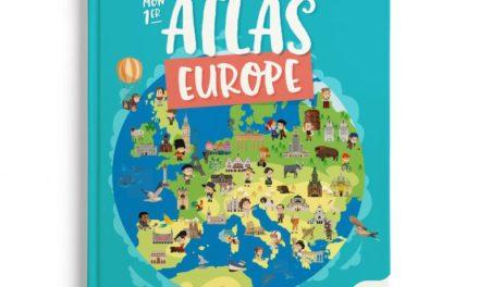 couverture mon premier atlas d'Europe , ed. Quelle histoire 2020