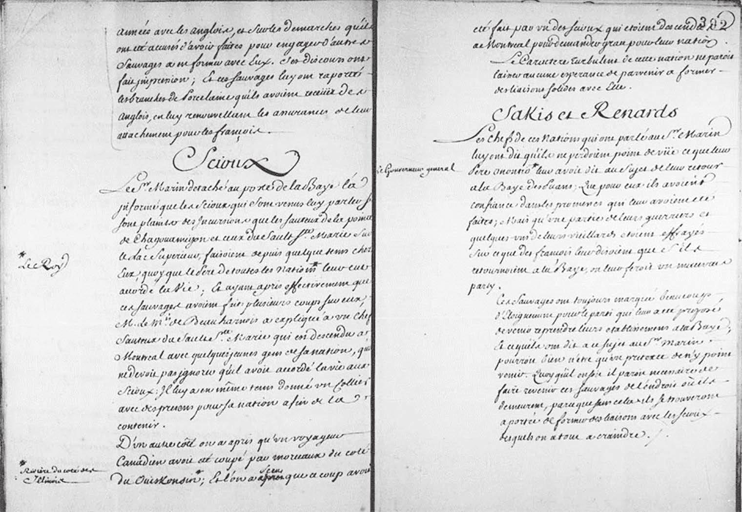 Mémoire anonyme sur diverses nations indiennes (1742)